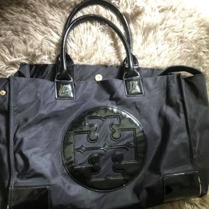 Tory Burch Bag with added leather cross body strap